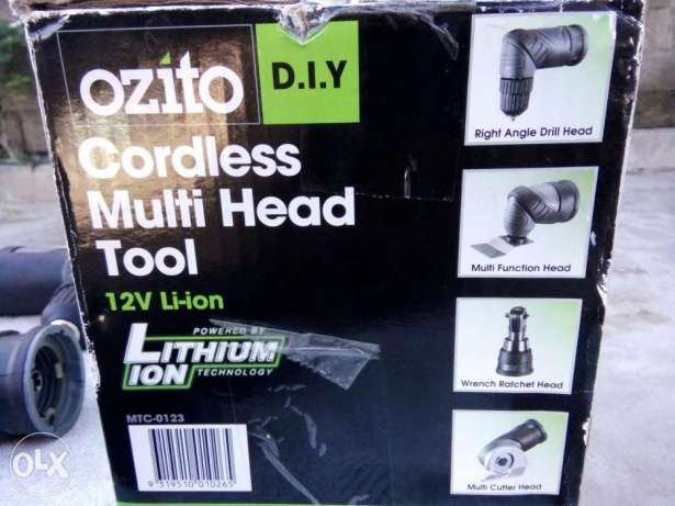 OZITO 12v cordless multi head tools with 2 batt charger n accessories