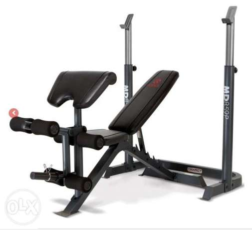 Marcy 2pc Bench Press Rack Heavy Duty Free delivery