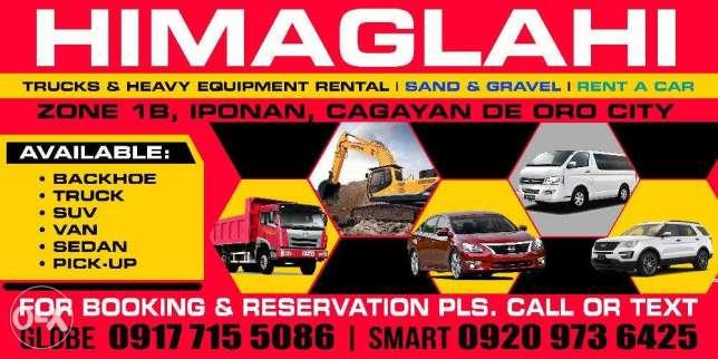cdo van rent a car Backhoe Boom truck elf lipat Bahay power tools H