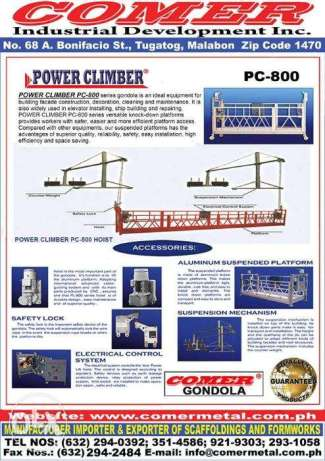 Power Climber Gondola Aluminum 7.5meters PC800 Paint Job Work Facelift