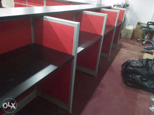 Office Partition Norsed Ent. Full Fabric with Glass Top