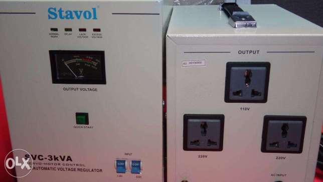 Servo motor Stavol AVR Automatic Voltage Regulator with Time Delay