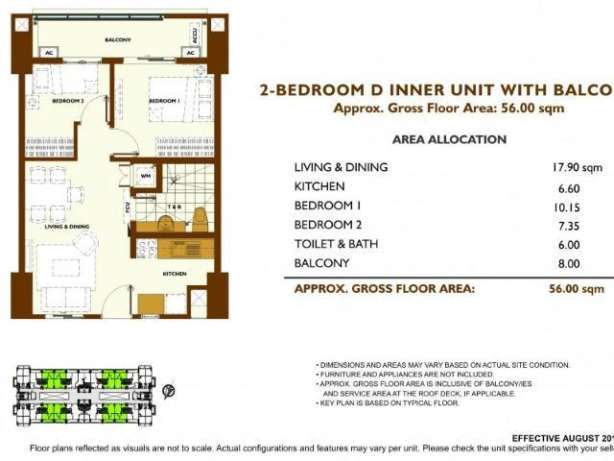 DMCI 2BR Fairway Terraces Condo in Villamor Pasay near NAIA 3, Newport