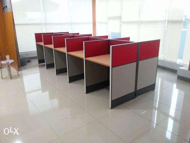 Long Workstation_Office Partition_Screen Panel() NJLAN Enterprises