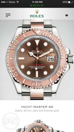 Rolex Yachtmaster Everose Gold Choco Dial 40mm