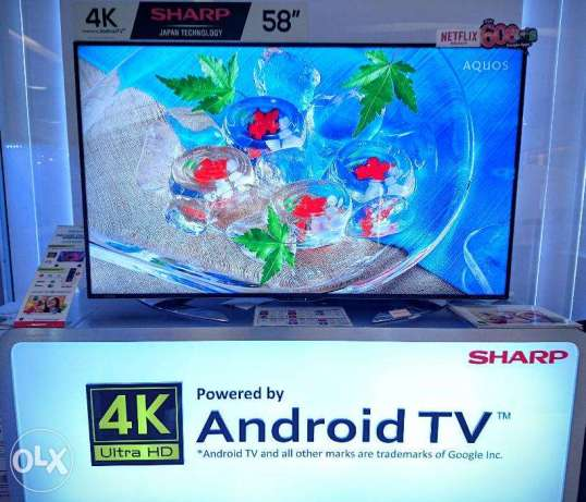 Brand New SHARP 4K LC58UE630X 58inches UHD Android Smart TV