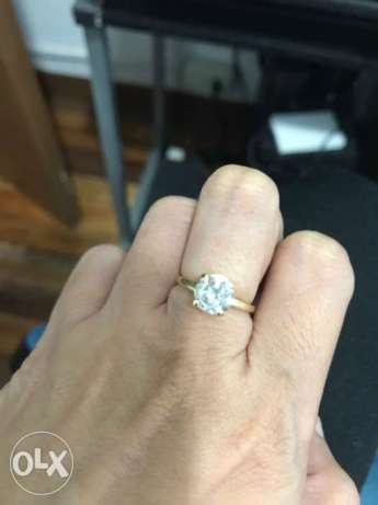 Authentic 1.75 Carat Solo Diamond Ring
