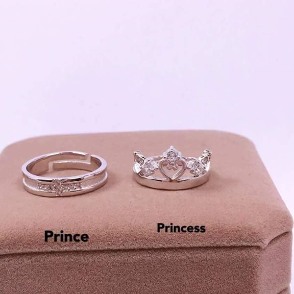 Prince and princess crown ring 💟