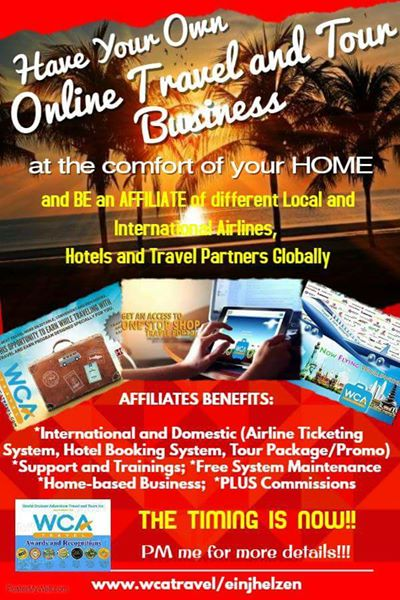 Homebased Travel and Tour Business