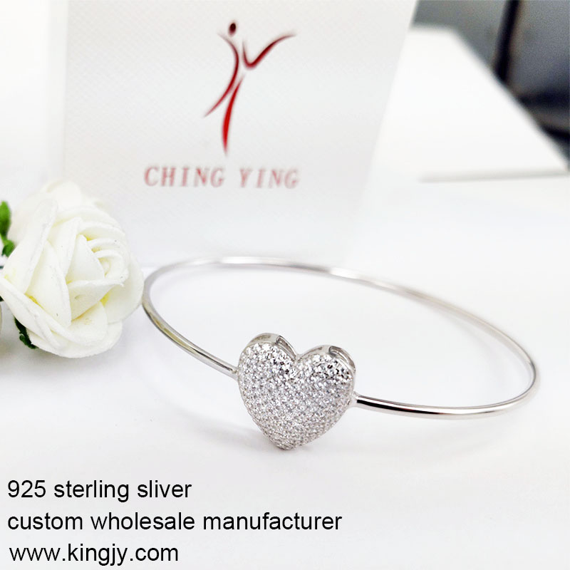 Custom wholesale 925 sterling silver bracelets for chain shop
