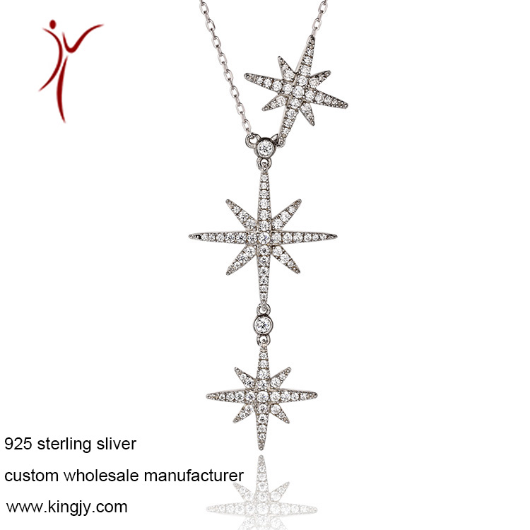 Custom wholesale necklaces 925 sterling silver jewelry