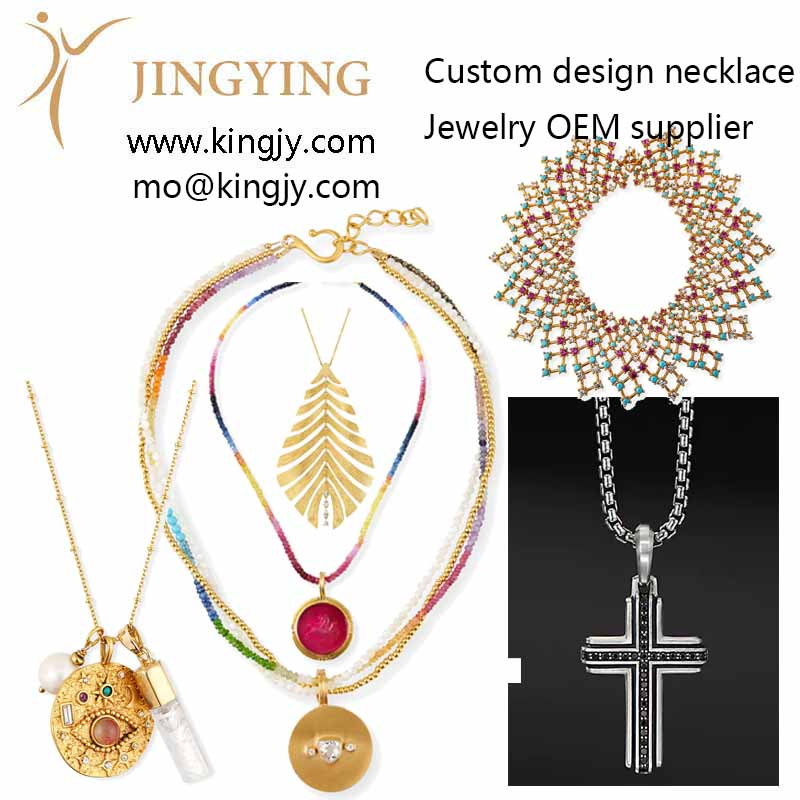 Custom necklace 18k gold 925 sterling OEM manufacturers suppliers